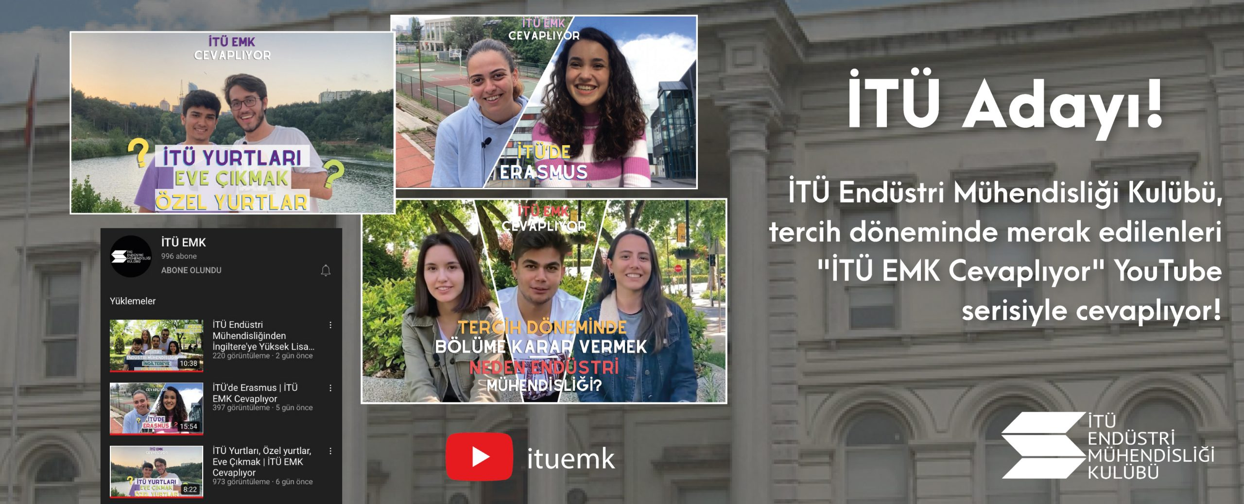 İTÜ EMK Youtubeda!